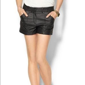French Connection Faux Leather Shorts
